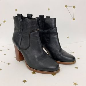 French Connection • Black Leather Ankle Booties 8